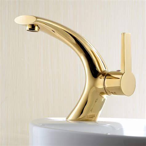 Gold Bathroom Fixtures Decool Gold Bathroom Faucet Creative Curved Bathroom Faucet Brass And Cold Water Faucet Free
