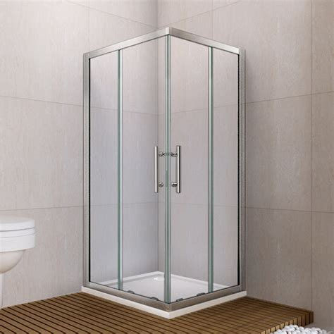Corner Entry Shower Door 760x760mm Walk In Shower Enclosure Sliding Door Corner Entry Glass Screen