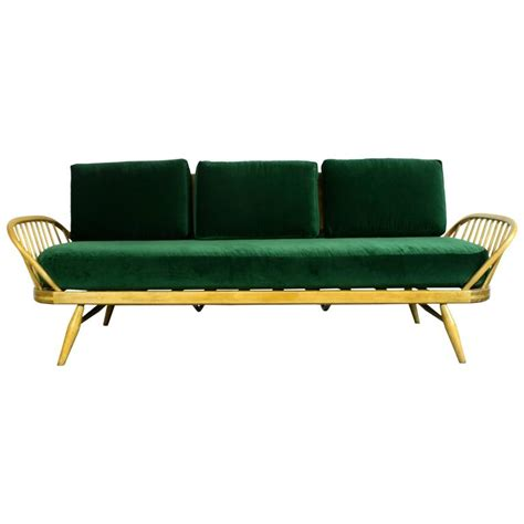 studio couch bed vintage ercol 355 studio couch sofa or daybed with green