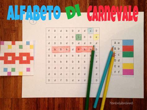 imparare lettere i disegni nascosti di carnevale per imparare l alfabeto