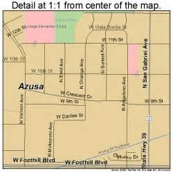 azusa california map 0603386