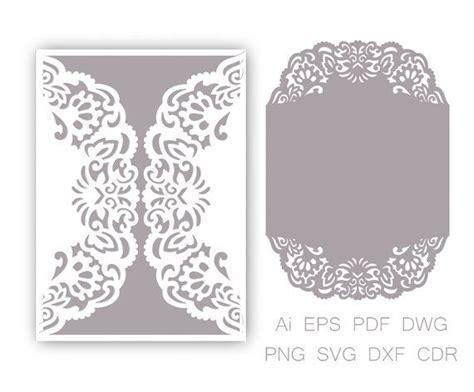 Free Wedding Gate Fold Card Template Silhouette by Gate Fold Wedding Invitation Laser Cut Pattern Card