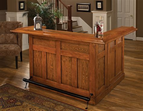 Oak Home Bar Hillsdale Classic Oak Bar