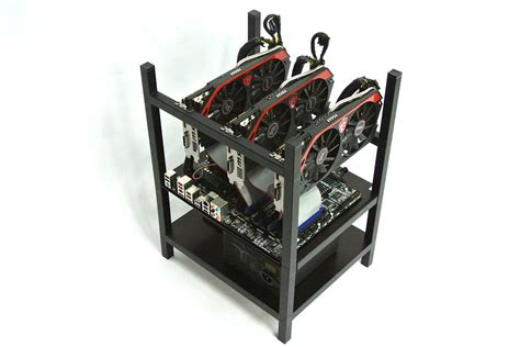 Gpu Mining Rack by New Litecoin Mining Rig With Custom Built Black Anodized