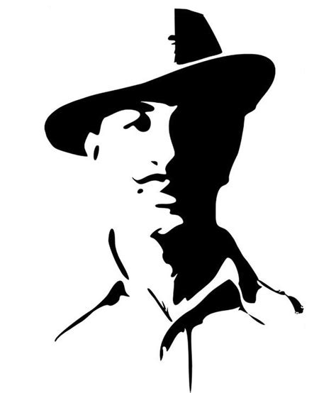 Home Decor India by Studio Briana Patriot Bhagat Singh Portrait Wall Decal On