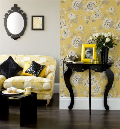 how to decorate with black white yellow