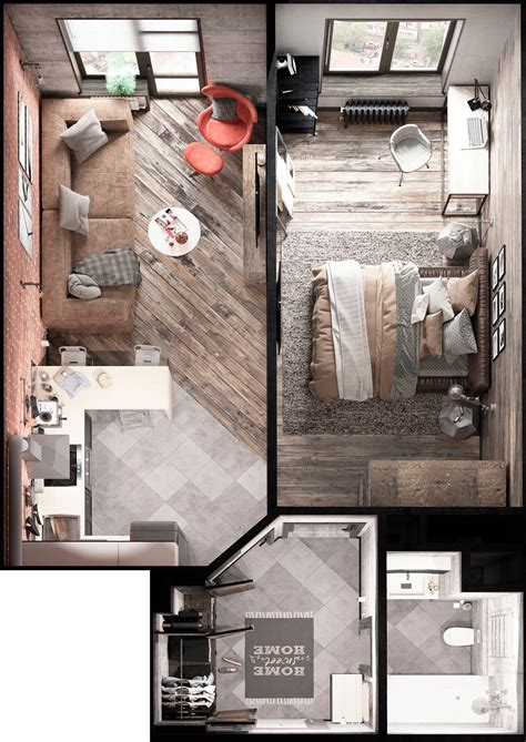 small space floor plans bold decor in small spaces 3 homes 50 square meters