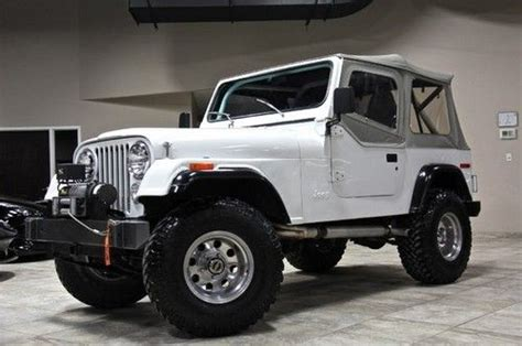 small jeep white sell used fully restored 1980 jeep cj7 with chevy small