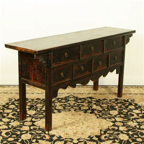 64 Inch Long Black Asian Buffet Table 17 Quot Deep 7 Drawers Asian Buffet Table