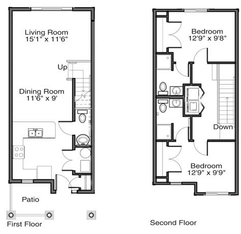 townhouse floor plan ahscgs com gvsu apartment floor plans 48 west