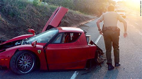 Crashed Ferrari Enzo ferrari once split in half in crash goes up for auction