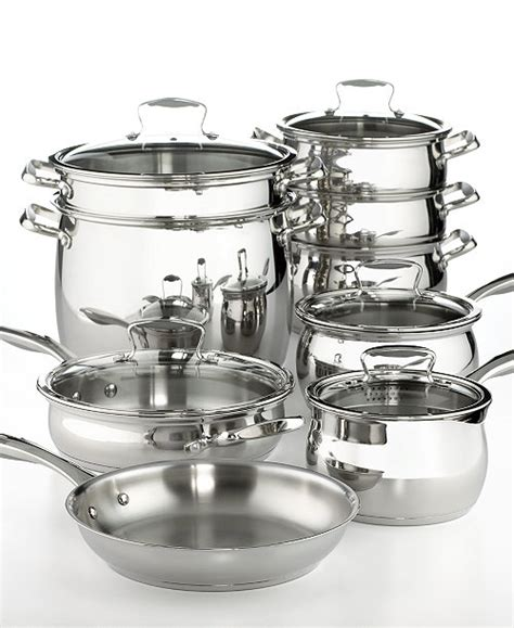 new belgique tools of the trade stainless steel 14 piece cookware set ebay