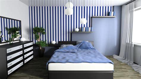 blue bedroom 3d wallpaper for modern home office walls burke decor blue