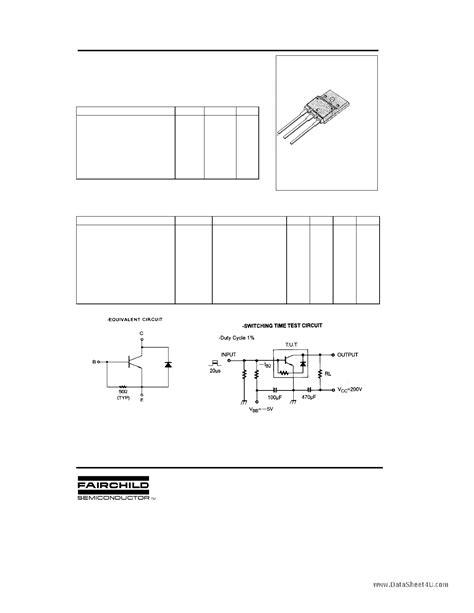 Transistor D5071 datasheet d5071 pdf fairchild semiconductor ksd5071 1 page