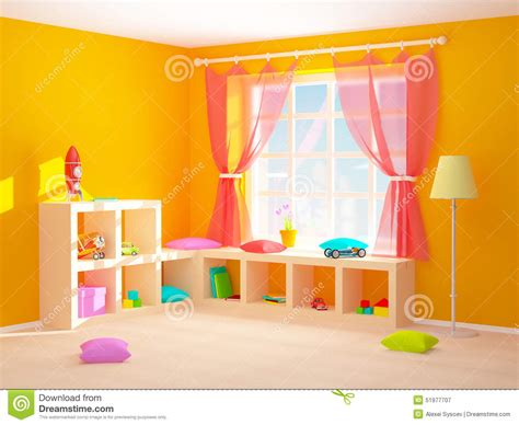 baby room clipart baby room with floor shelves stock illustration image 51977707