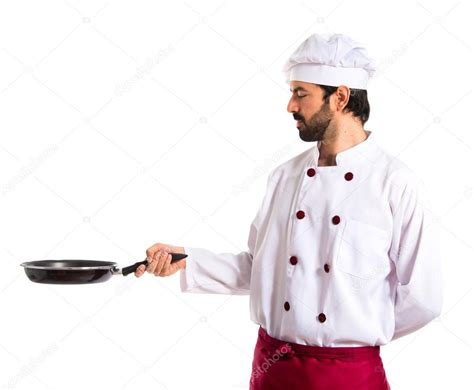 images of pan chef holding frying pan stock photo 169 luismolinero 59035439
