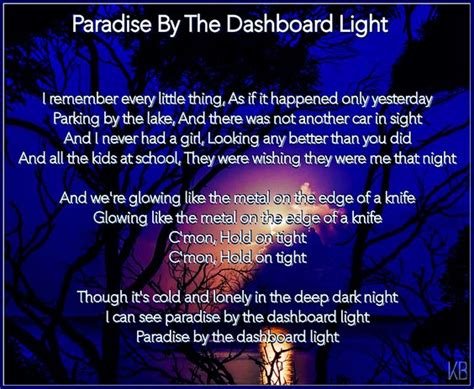 Paradise By The Dashboard Light Meatloaf by The World S Catalog Of Ideas