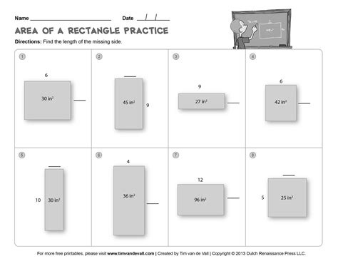 free area and perimeter worksheets for 3rd grade 6 best images of 4th grade area of rectangle worksheet area and perimeter 6th grade math