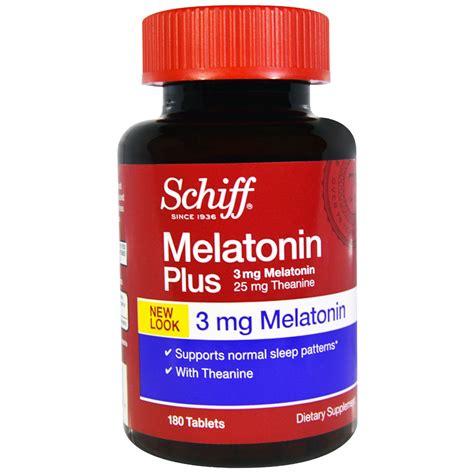 best brand melatonin schiff melatonin plus 3 mg 180 tablets iherb