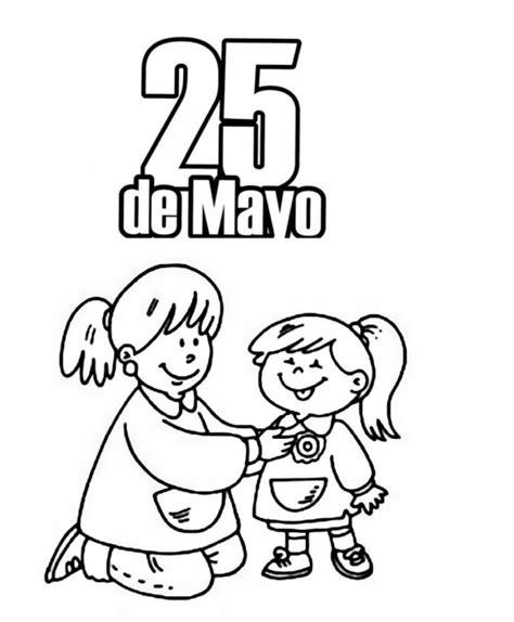 imagenes del 5 de mayo para colorear im 225 genes del 25 de mayo para ni 241 os para pintar colorear e