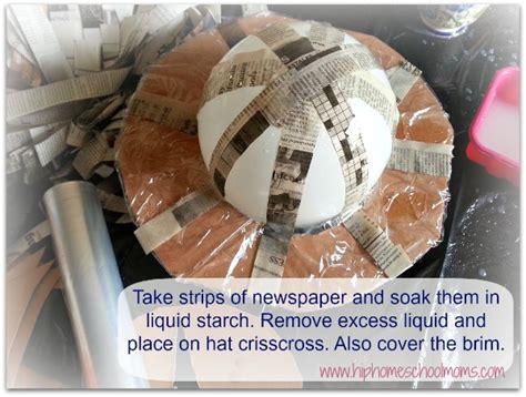 How To Make Starch For Paper Mache - paper mache hats hip homeschool