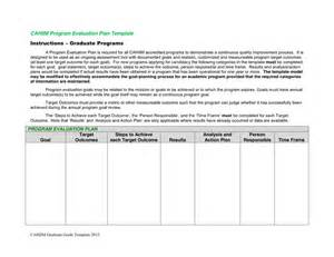 Design Evaluation Template by Program Evaluation Plan Template In Word And Pdf Formats