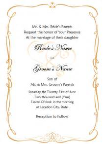 Template For Invitation by Wedding Invitation Template