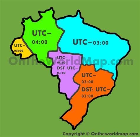 map usa brazil brazil time zone map