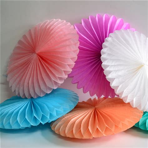 How To Make A Tissue Paper Fan - tissue paper fans pom poms honeycomb wedding