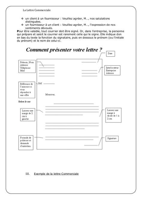 Modele De Lettre De Présentation Commerciale Lettre Commercial