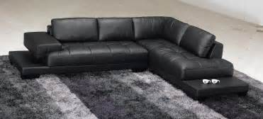 black modern sofa taking care the modern black leather sectional s3net