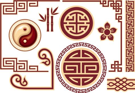 chinese design elements vector free chinese style floral decorative elements free vector in