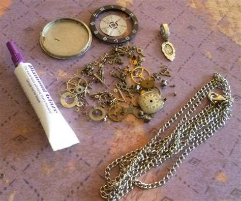 Steunk Jewelry Supply Kit Make Your Own Resin Vintage