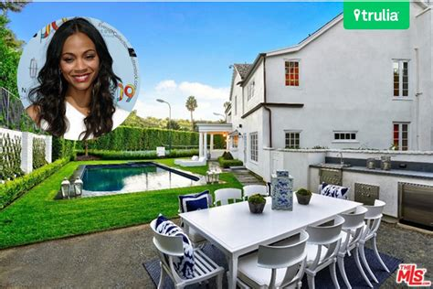 house zoe saldana bought  beverly