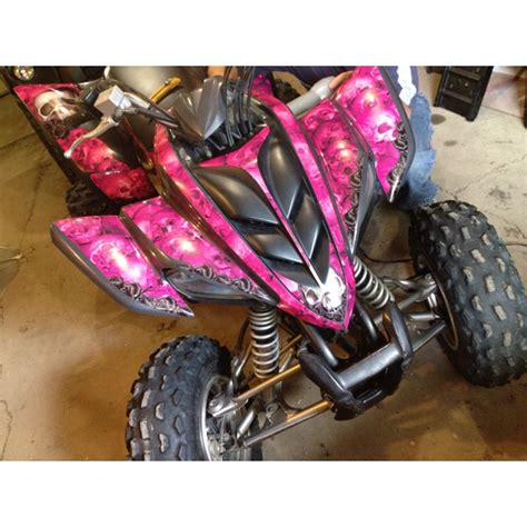 Decal Yamaha X Ride Camo pink decals on a 2005 yamaha raptor decals from amr