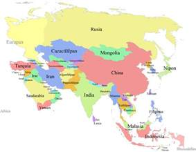 Map Of Asia With Countries by Pics Photos Asia Map Map Of Asia Showing Countries And Seas