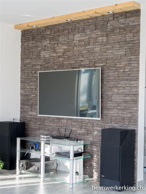 wand lesele mit kabel tv wand mit steinverblender ohne sichtbare kabel bauen