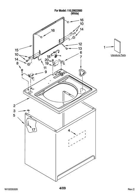 diagram kenmore parts diagram