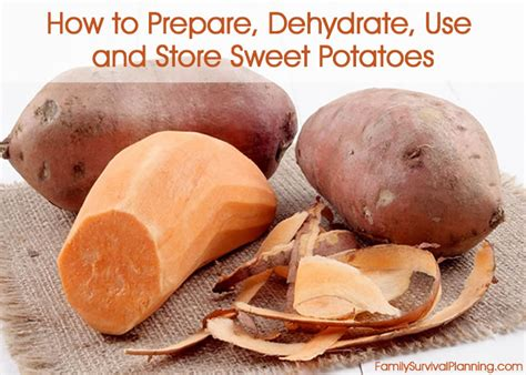how to prepare dehydrate use and store sweet potatoes