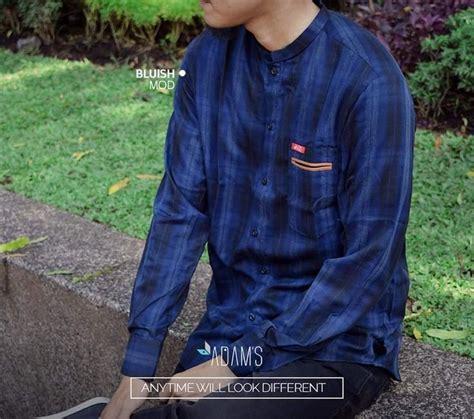 Kemeja Baju Koko Muslim Pria Exe Biru Dongker Kombinasi Batik 17 best images about adam s baju muslim pria on
