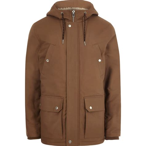Brown Jacket brown hooded borg lined jacket coats jackets sale