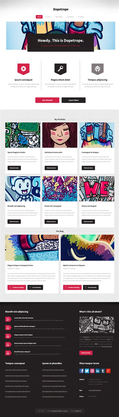 Responsive Psd Web Templates 25 Free Templates Psd Files Design Blog Responsive Website Templates Psd Free
