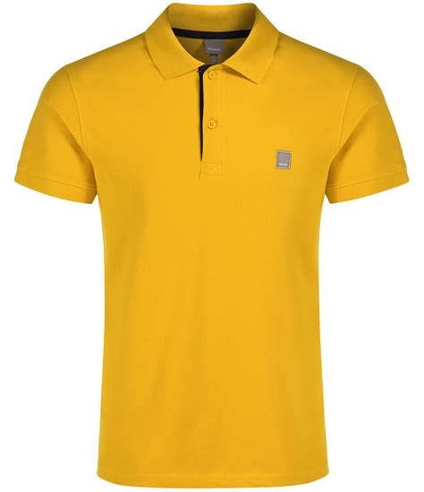 polo shirt bench bench crystalline plain regular fit polo shirt in yellow