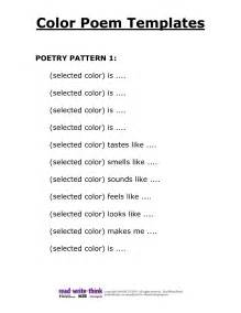 color poem exles poem template n0tzb5hr year 5