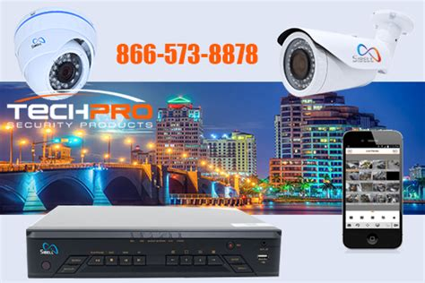 security cameras west palm techpro security products