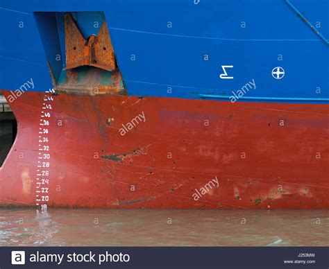 boat markings the waterline numbers and markings on the hull of a cargo