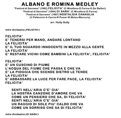 albano e romina medley uomo hully gully basi audio
