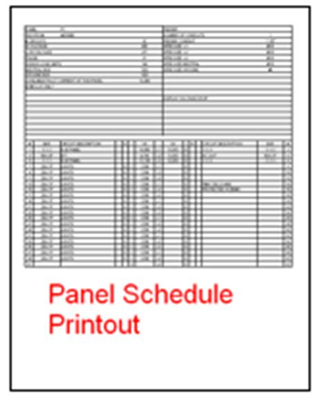 Panel Schedule Software Electrical Panel Directory Template