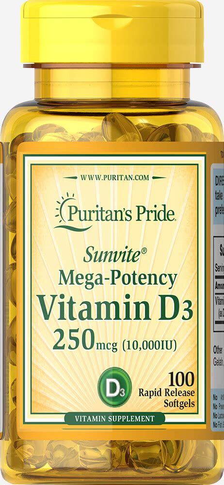 Puritan S Puritan Pride Mega Potency Vitamin D3 5000iu 200 Softgels d vitamins products d vitamins supplements puritan s pride