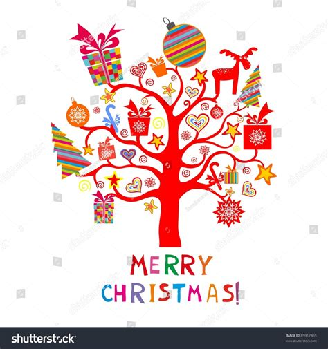 christmas cards shutterstock card abstract tree stock photo 85917865
